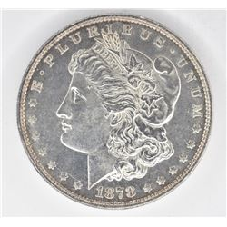 1878 7 TF MORGAN DOLLAR, CH BU PL
