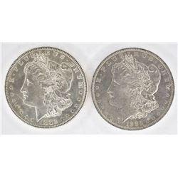 1882-S & 1885-O CH BU MORGAN DOLLARS