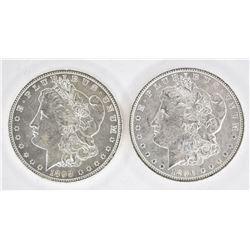 1896 & 1898-O CH BU MORGAN DOLLARS