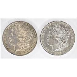 1882 & 1882-S CH BU MORGAN DOLLARS