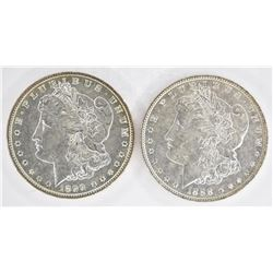 1888 & 1899-O CH BU MORGAN DOLLARS