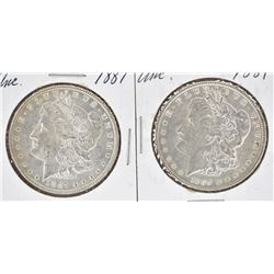 1887 & 1889 CH BU MORGAN DOLLARS