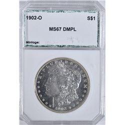 1902-O MORGAN DOLLAR PCI SUPERB GEM BU DMPL