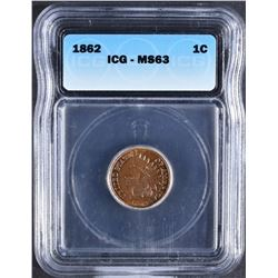 1862 INDIAN CENT ICG MS-63