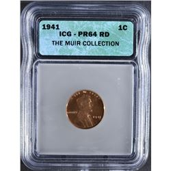1941 LINCOLN CENT ICG - PR64 RD