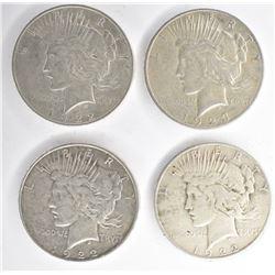 3- PEACE DOLLARS: 1922-D XF/AU,