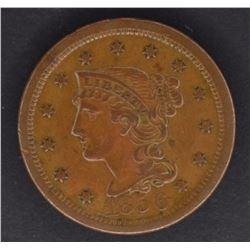 1856 LARGE CENT CH AU