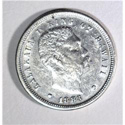 1883 HAWAIIAN DIME XF+
