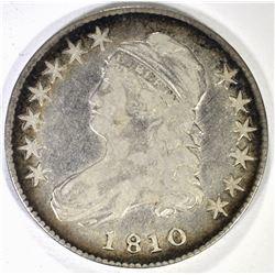 1810 BUST HALF DOLLAR, VF