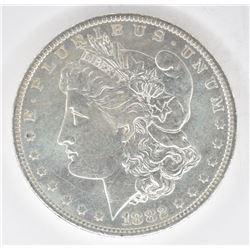 1882-O MORGAN DOLLAR, CH BU+