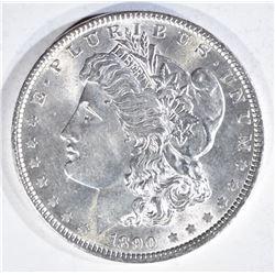 1890 MORGAN DOLLAR, GEM BU