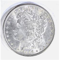 1896 MORGAN DOLLAR, GEM BU