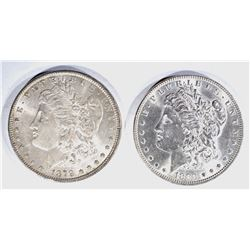 1879 & 83 CH BU MORGAN DOLLARS
