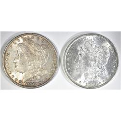1880 & 80-S CH BU MORGAN DOLLARS