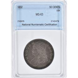 1832 BUST HALF DOLLAR, NNC CH BU NICE!