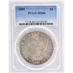 1889 MORGAN DOLLAR, PCGS MS-66 CHOICE!