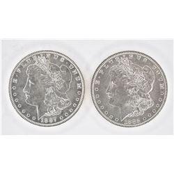 1882 & 1887 CH BU MORGAN DOLLARS