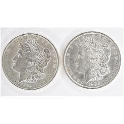 1886 & 1889 CH BU MORGAN DOLLARS