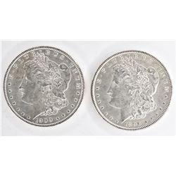 1896 & 1900 CH BU MORGAN DOLLARS