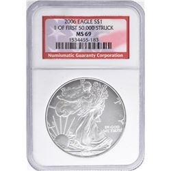2006 AMERICAN SILVER EAGLE NGC MS 69