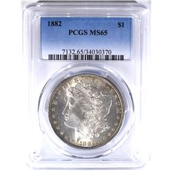 1882 MORGAN DOLLAR PCGS MS65