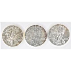 1986, 01 & 09 BU AMERICAN SILVER EAGLES