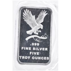FIVE OUNCE .999 SILVER ROUND ( SILVERTOWNE )