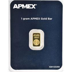 1 gram .9999 FINE GOLD BAR ( AMPEX )