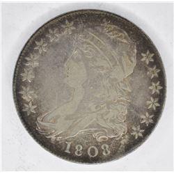 1808 BUST HALF DOLLAR, VF/XF
