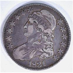 1831 BUST HALF DOLLAR ABOUT XF