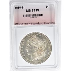 1885-S MORGAN DOLLAR WHSG CHBU