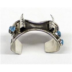 Vintage Navajo Sterling Turquoise Watch Bracelet