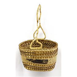 Nootka Whalers Basket w/handle