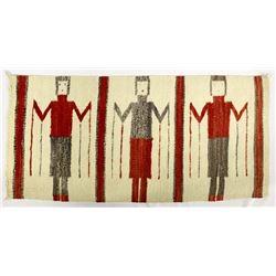 Vintage Native American Navajo Yei Wool Textile