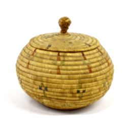 Vintage Northwest Coast Alaskan Lidded Basket