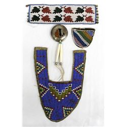 Native American Beadwork and Sterling Pendant