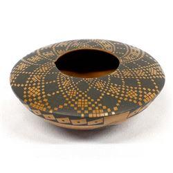 Mata Ortiz Eye Dazzler Pillow Pot by L. Rodriguez