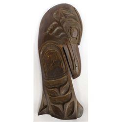 Vintage Northwest Coast Carved Wood Raven Plaque