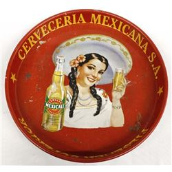 Vintage Metal Cerveza Mexicali Beer Tray