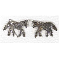 Sterling Horse Earrings by Richard Lindsey