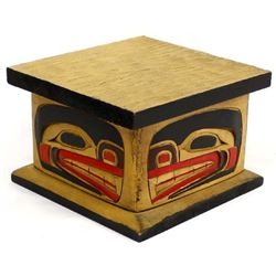 NorthWest Coast Carved Wood Box
