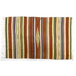 Vintage Chimayo Fringed Blanket