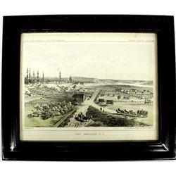 1855 Ft. Vancouver Washington Territory Lithograph