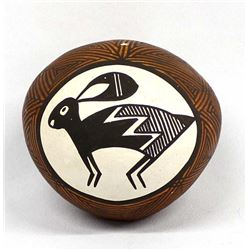 Vintage Acoma Pottery Seed Jar by Joyce Leno