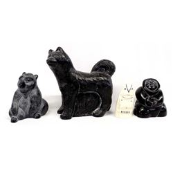 4 Alaskan Carvings