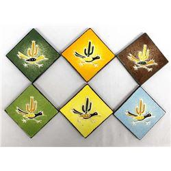 6 Vintage Legandware Roadrunner Tiles