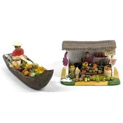 2 Pieces of Folk Art Pottery made in Ecuador