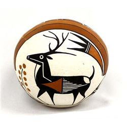 Native American Acoma Seed Jar by A. Vallo