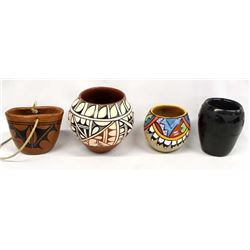4 Pieces of Native American Pottery