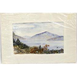 1986 Original Watercolor Painting by Carleton